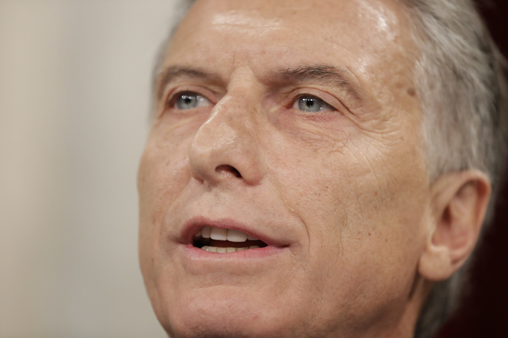 Argentina's President Mauricio Macri gives the annual State of the Nation speech to open the 2017 session of Congress in Buenos Aires, ...