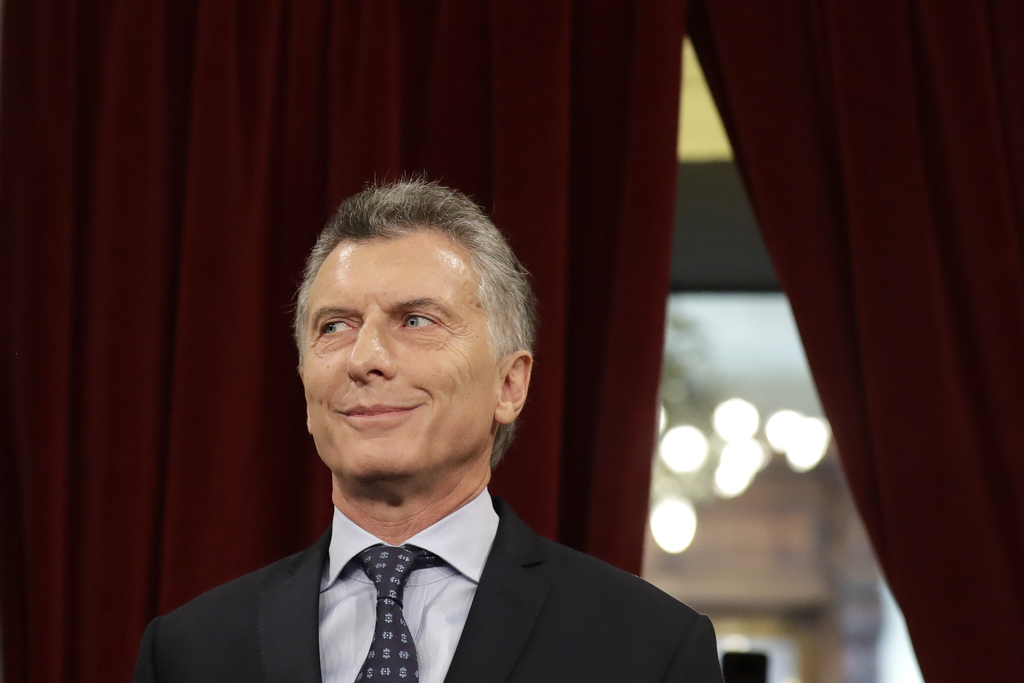 Argentina's President Mauricio Macri arrives to open the 2017 session of Congress and give the annual State of the Nation address in Bu...