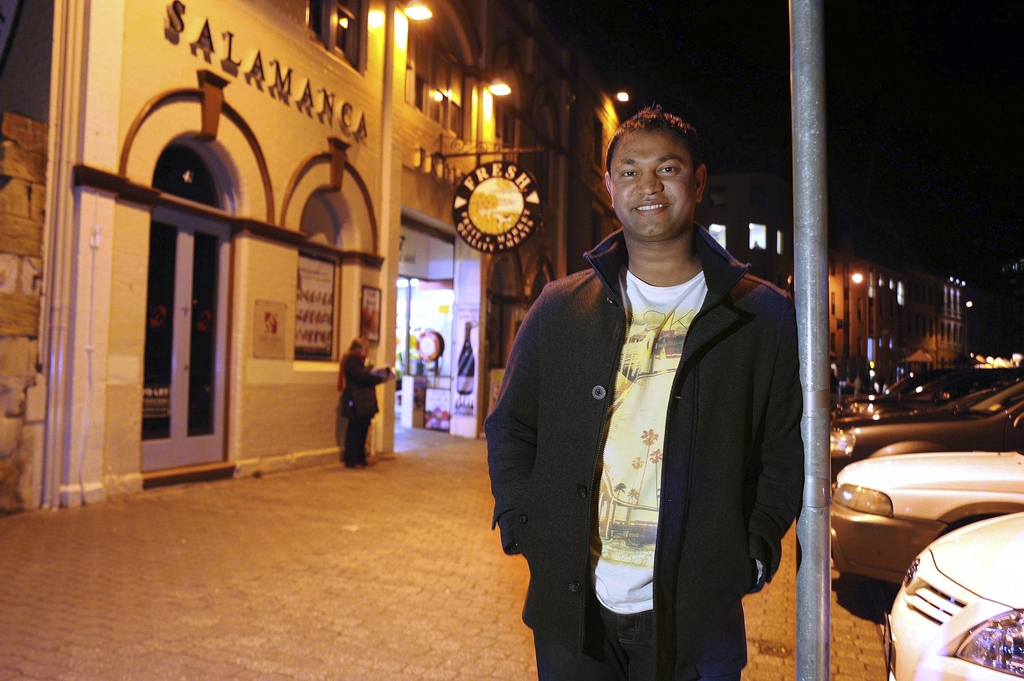 FILE-In this Monday, May 28, 2012 file photo, Saroo Brierley poses for a photo on a street near his home in Hobart, Australia. In Febru...