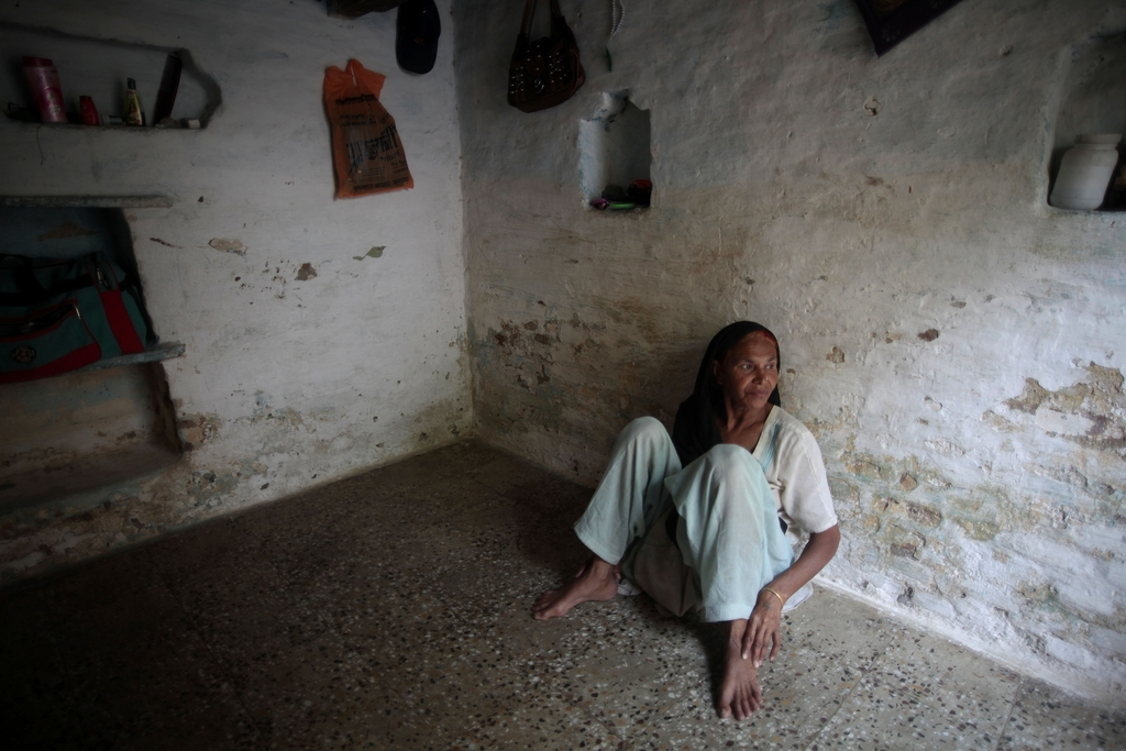FILE-In this May 10, 2012 file photo, Fatima Munshi sits in her home in Khandwa, India. Living in Australia, Saroo Brierley, 30, was re...