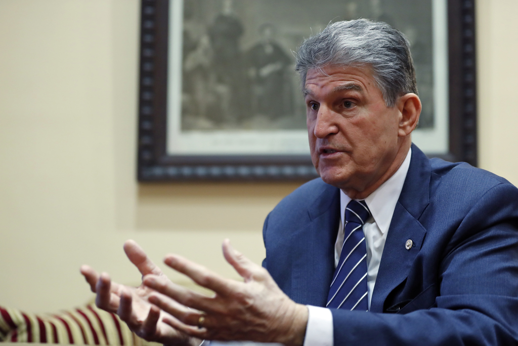 FILE In this Feb. 1, 2017 file photo, Sen. Joe Manchin, D-W.Va. is interviewed by The Associated Press in his office on Capitol Hill in...