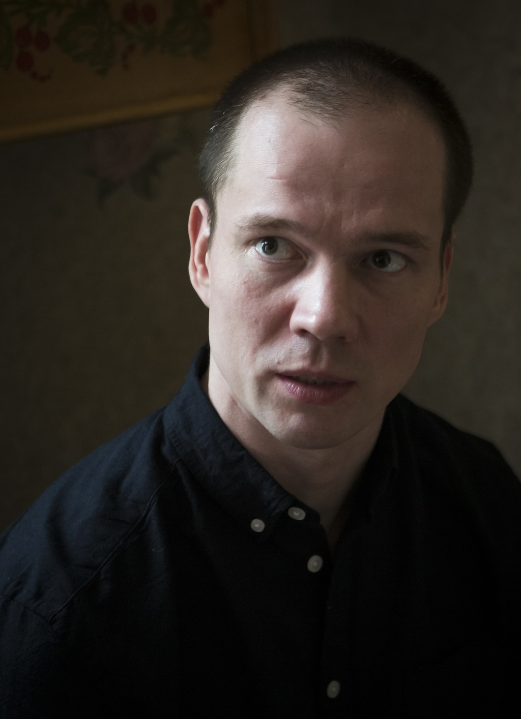In this photo taken on Saturday, March 4, 2017, Russian opposition activist Ildar Dadin speaks to the Associated Press in his apartment...
