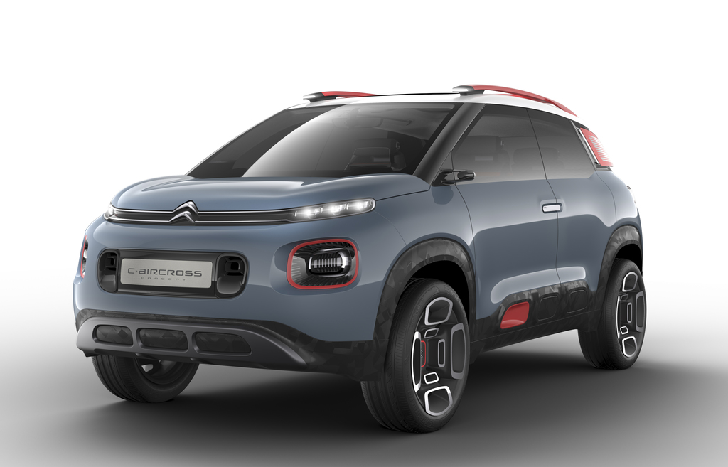 This undated  photo provided by car manufacturer Citroen, shows  a Citoen C-Aircross Concept, car. The car will be shown at the Geneva ...