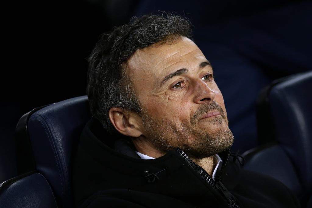 FC Barcelona's coach Luis Enrique looks on prior the Spanish La Liga soccer match between FC Barcelona and Celta Vigo at the Camp Nou i...