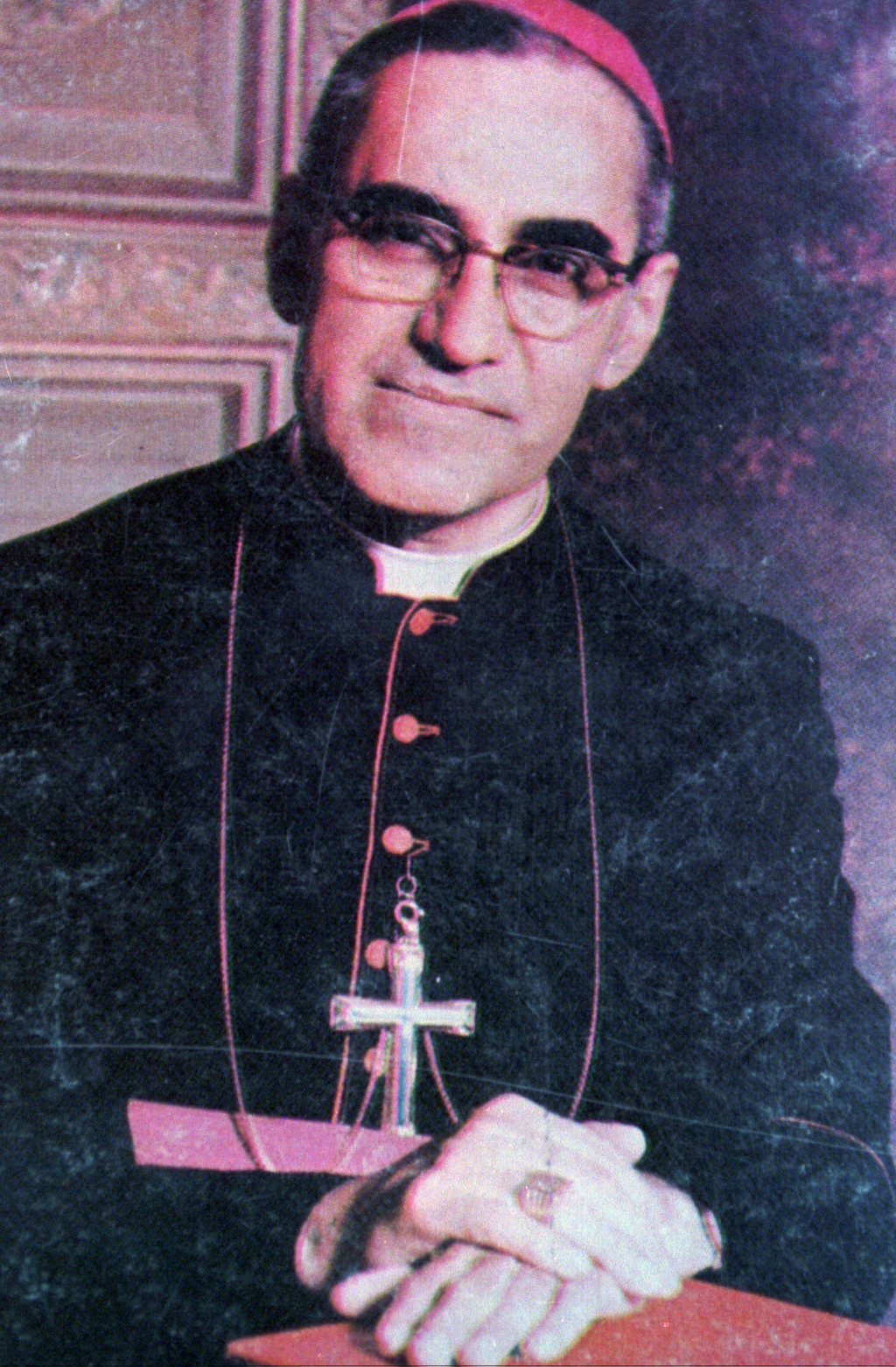 FILE - This undated file photo shows Archbishop Oscar Arnulfo Romero, who was gunned down while giving Mass in a San Salvador church on...