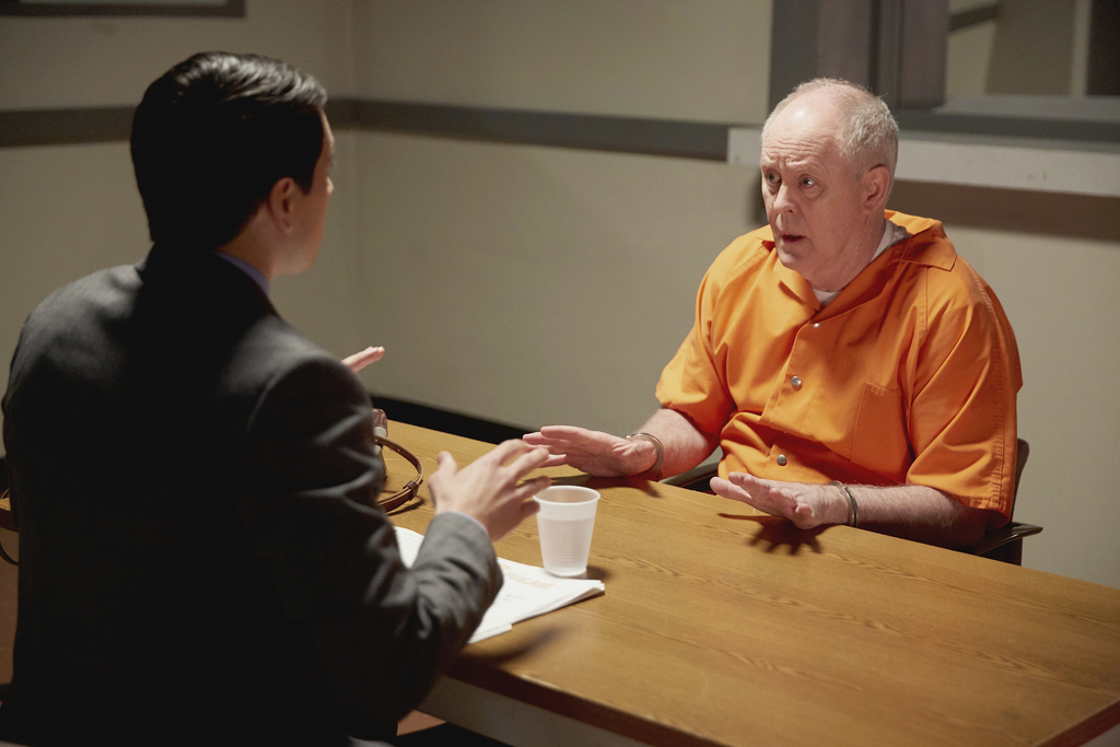 """In this image released by NBC, Nicholas D'Agosto, left, and John Lithgow appear in a scene from """"Trial & Error."""" The series premieres w..."""