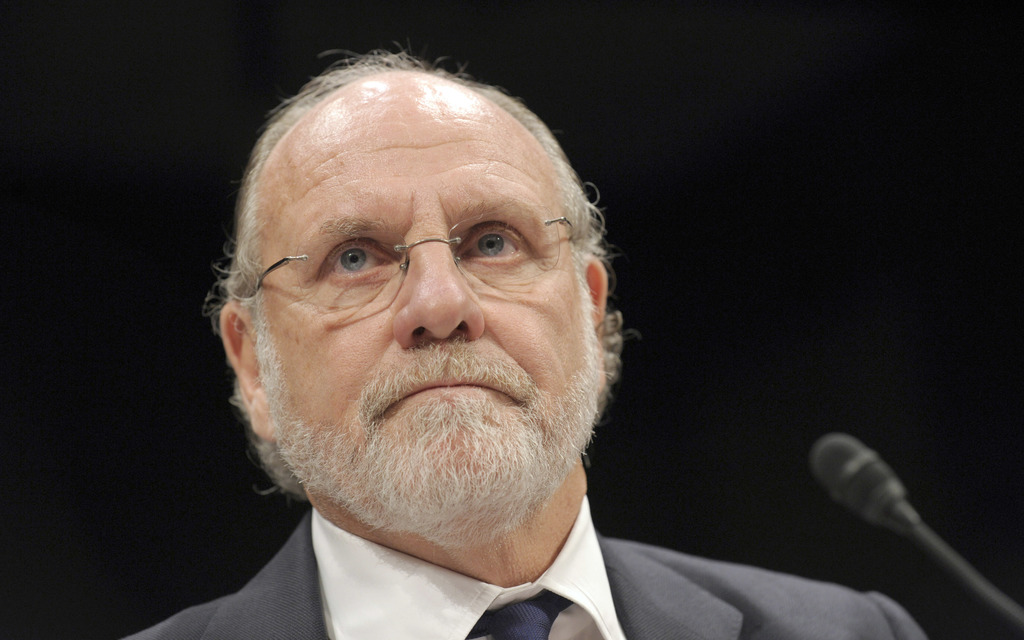 FILE - In this Thursday, Dec. 15, 2011, file photo, former MF Global Holdings Ltd. Chairman and CEO Jon Corzine testifies on Capitol Hi...
