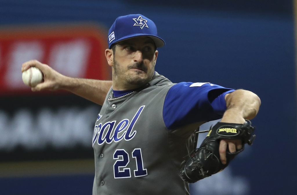 Israel's starting pitcher Jason Marquis throws against South Korea during the second inning of their first round game of the World Base...