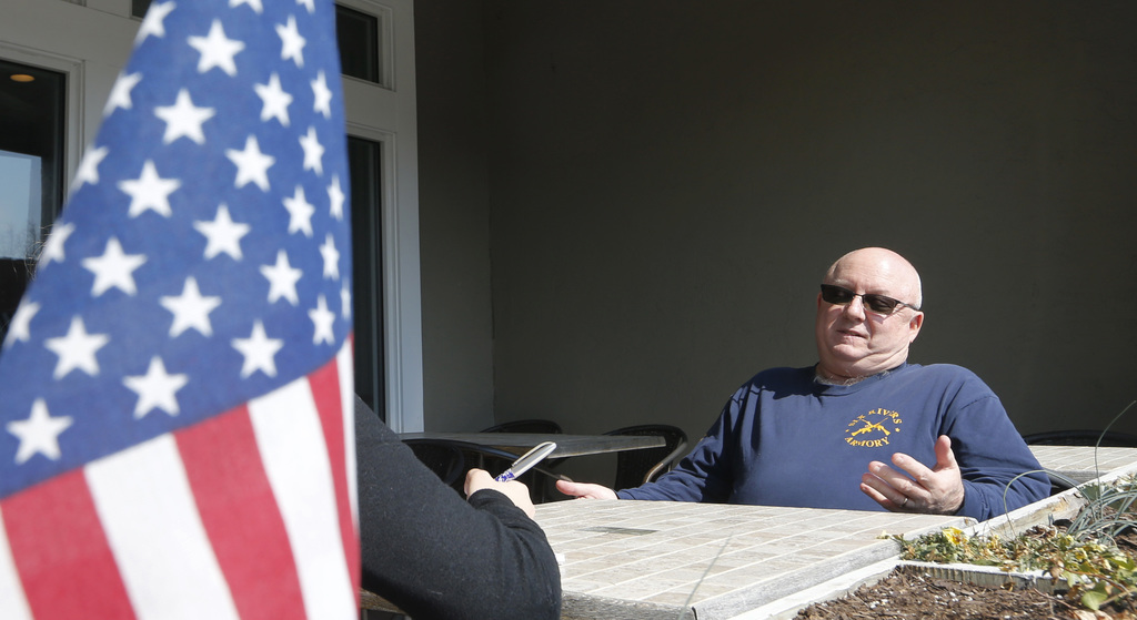 Gloucester resident Andrew Snyder gestures during an interview in Gloucester, Va., Monday, March 6, 2017. Snyder, a 57-year-old Coast G...