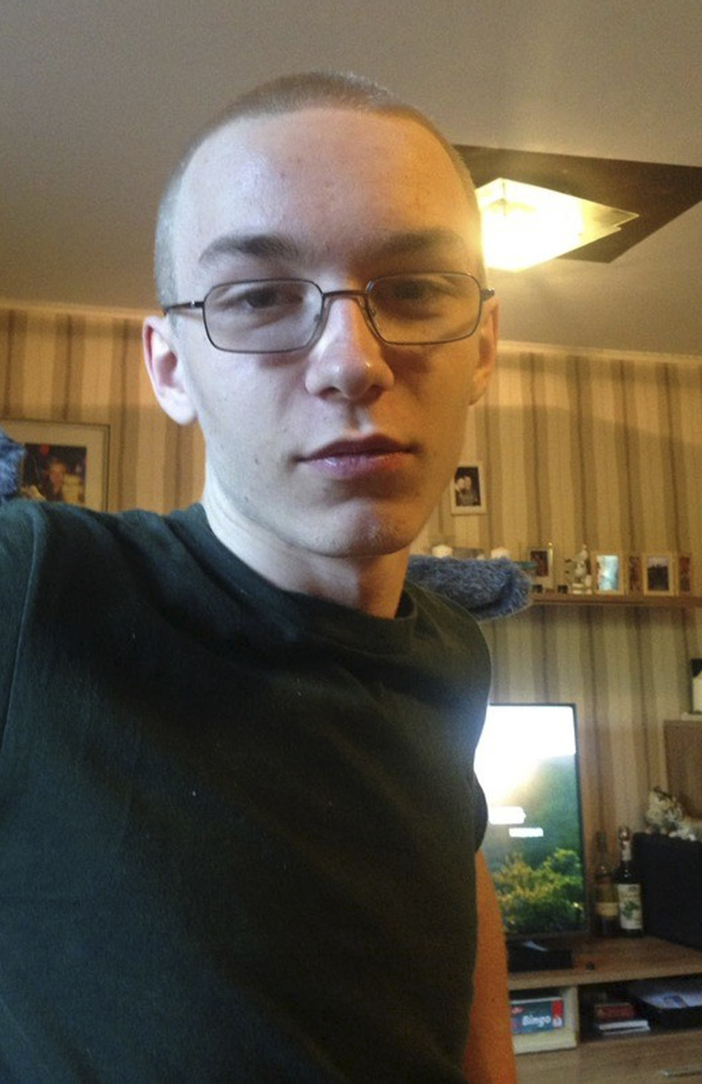 Undated photo provided by police in Bochum shows 19-year-old Martin Hesse. Police have launched a manhunt for the man who allegedly kil...