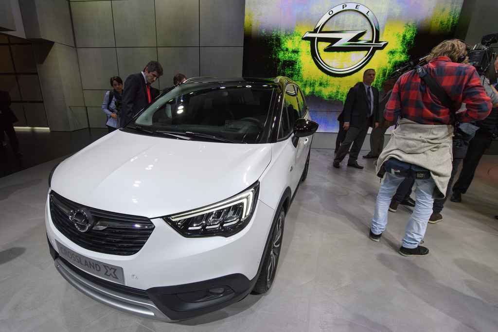 The New Opel Crossland X is presented during the press day at the 87th Geneva International Motor Show in Geneva, Switzerland, Tuesday,...