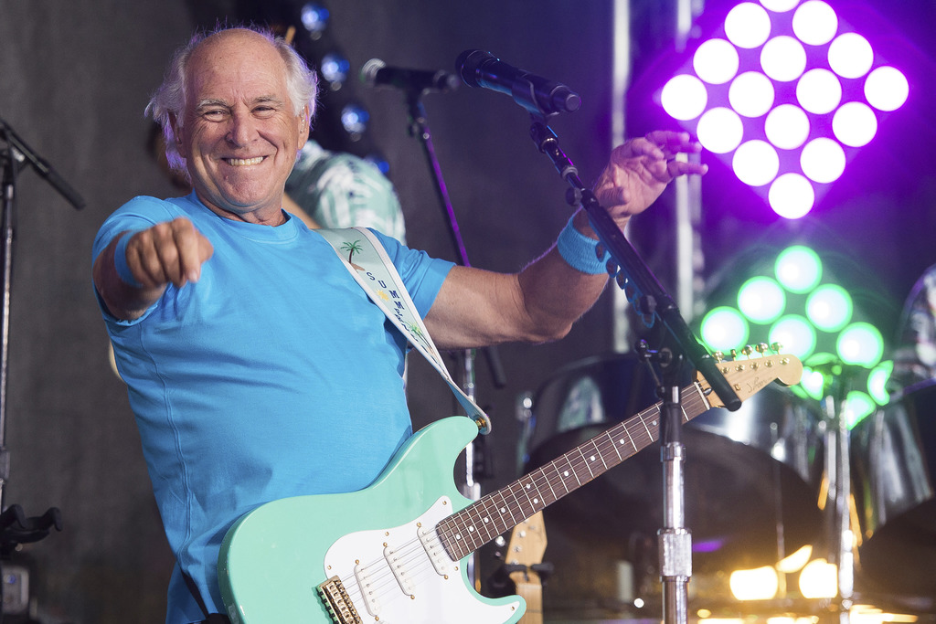 """FILE - This July 29, 2016 file photo shows Jimmy Buffett performing on NBC's """"Today"""" show in New York.  Buffett is opening a retirement..."""