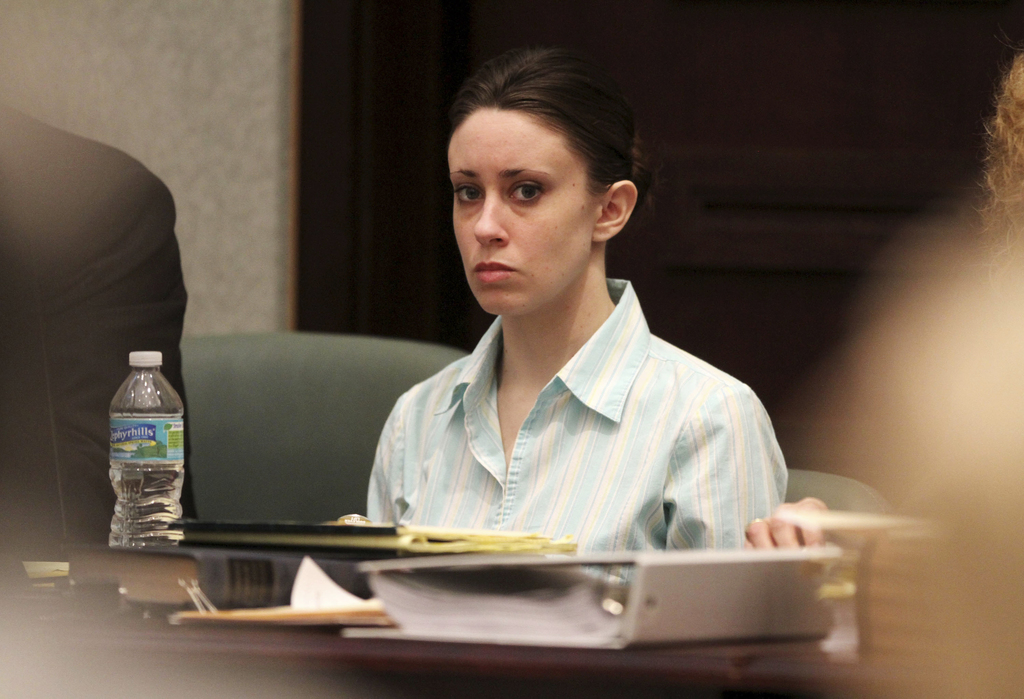 FILE - In this May 26, 2011, file photo, Casey Anthony appears in court during her trial at the Orange County Courthouse in Orlando, Fl...