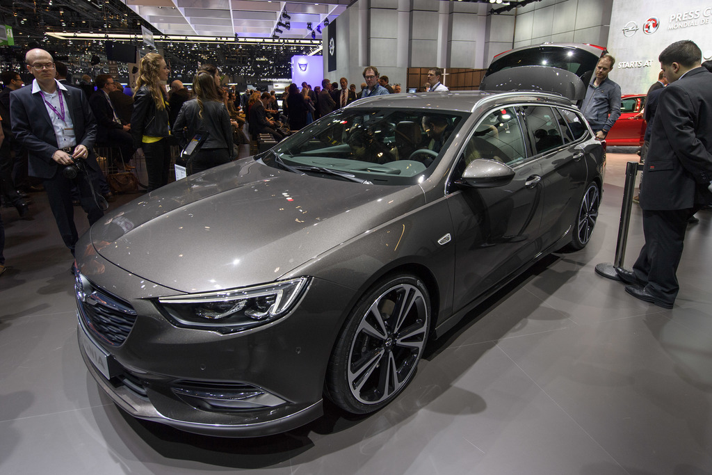 The New Opel Insignia Sports Tourer is presented during the press day at the 87th Geneva International Motor Show in Geneva, Switzerlan...