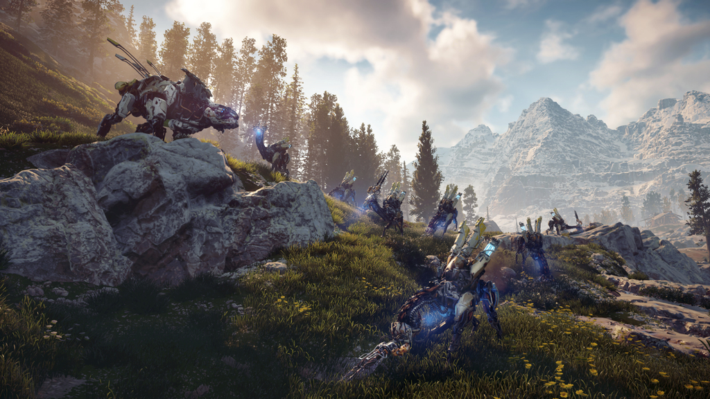 """This image released by Sony Interactive Entertainment shows a scene from """"Horizon Zero Dawn."""" (Sony Interactive Entertainment via AP)  ..."""