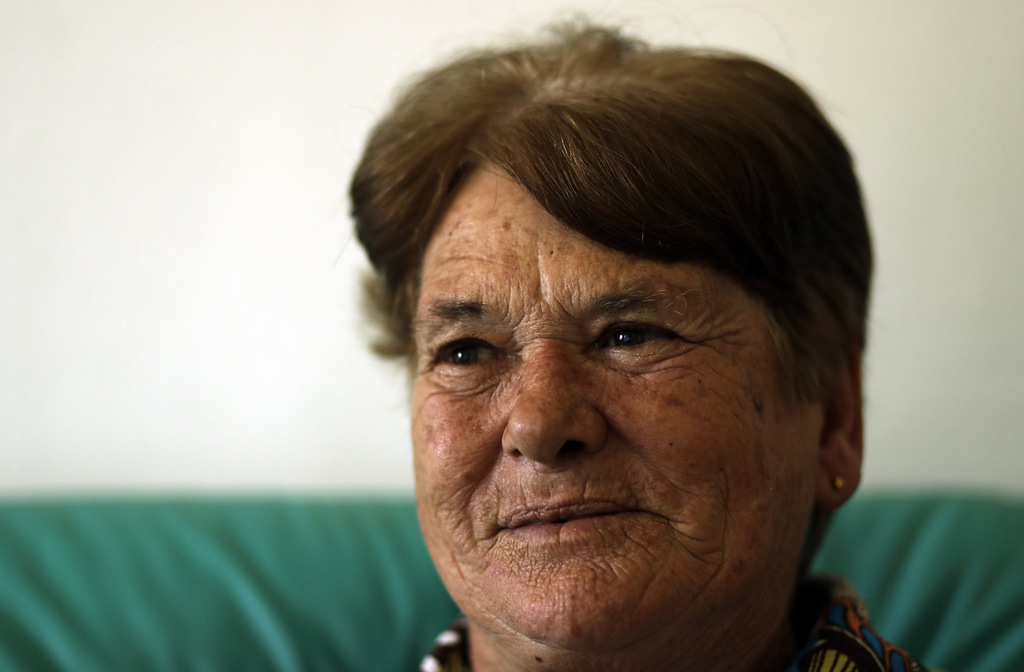 Monica Barnard, a part-time nanny, in Johannesburg, South Africa, Monday, March 6, 2017. Barnard, a 65-year-old mother of four, takes c...