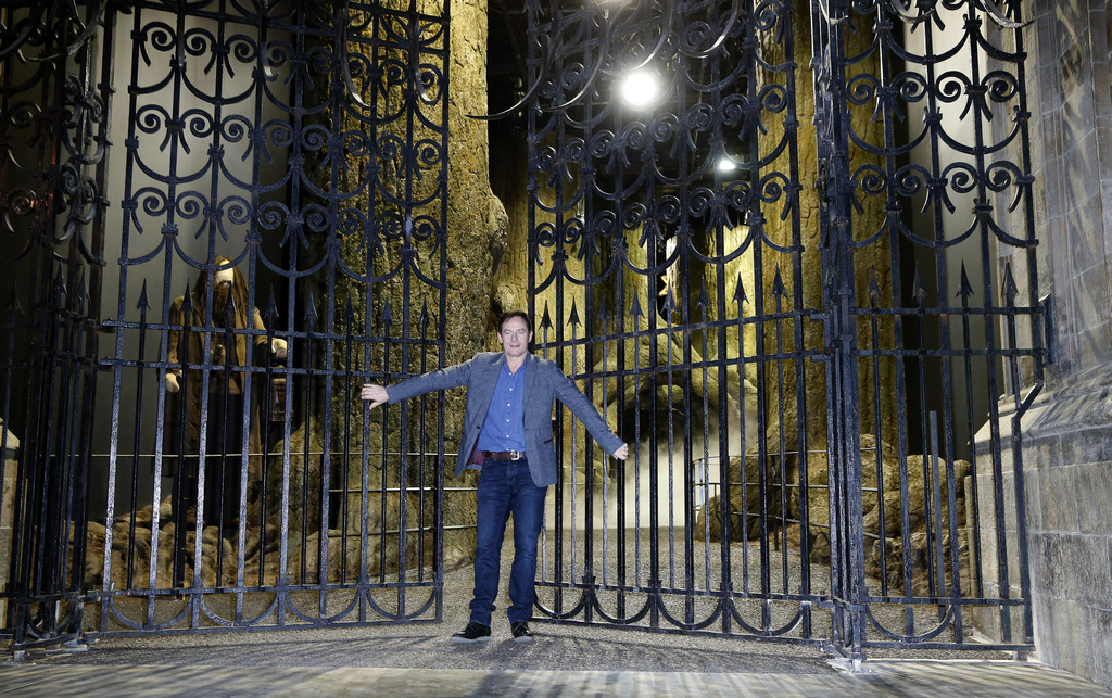 Actor Jason Isaacs poses for the media at a new extension called the 'Forbidden Forest' to the Warner Brothers studio tour 'The Making ...