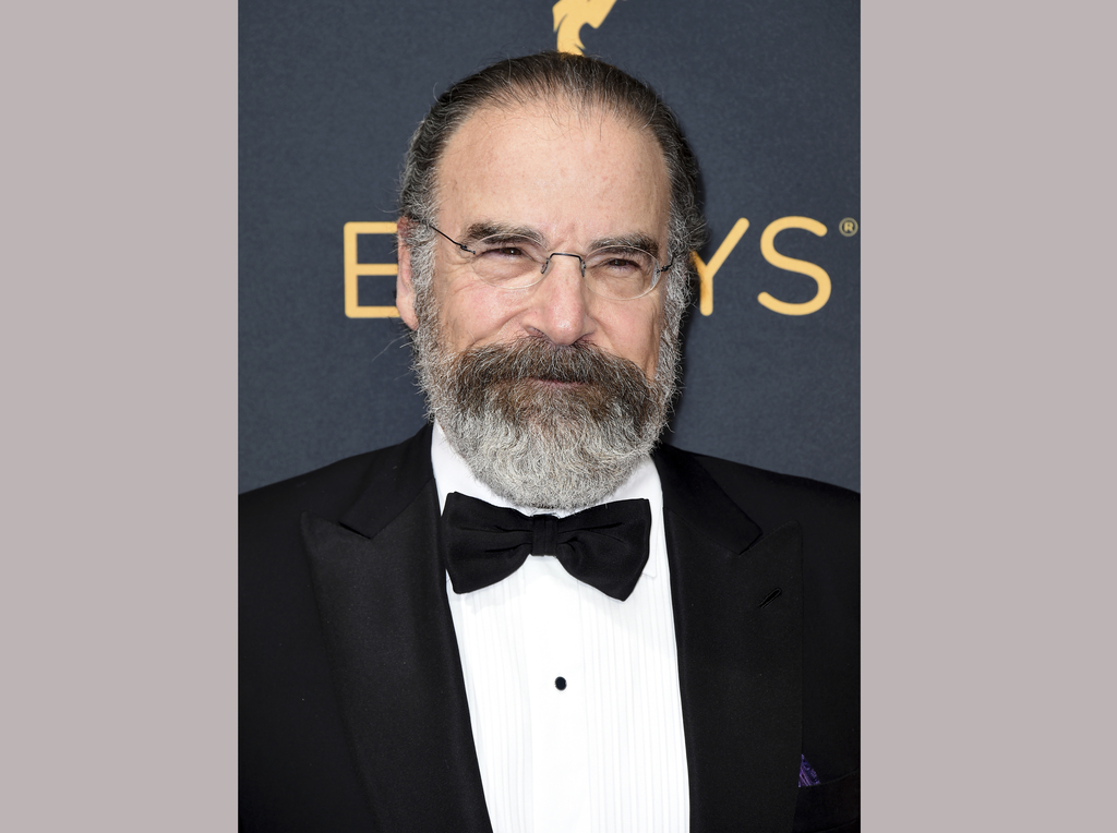 FILE - This Sept. 18, 2016 file photo shows Mandy Patinkin at the 68th Primetime Emmy Awards in Los Angeles. Patinkin knows that his sh...