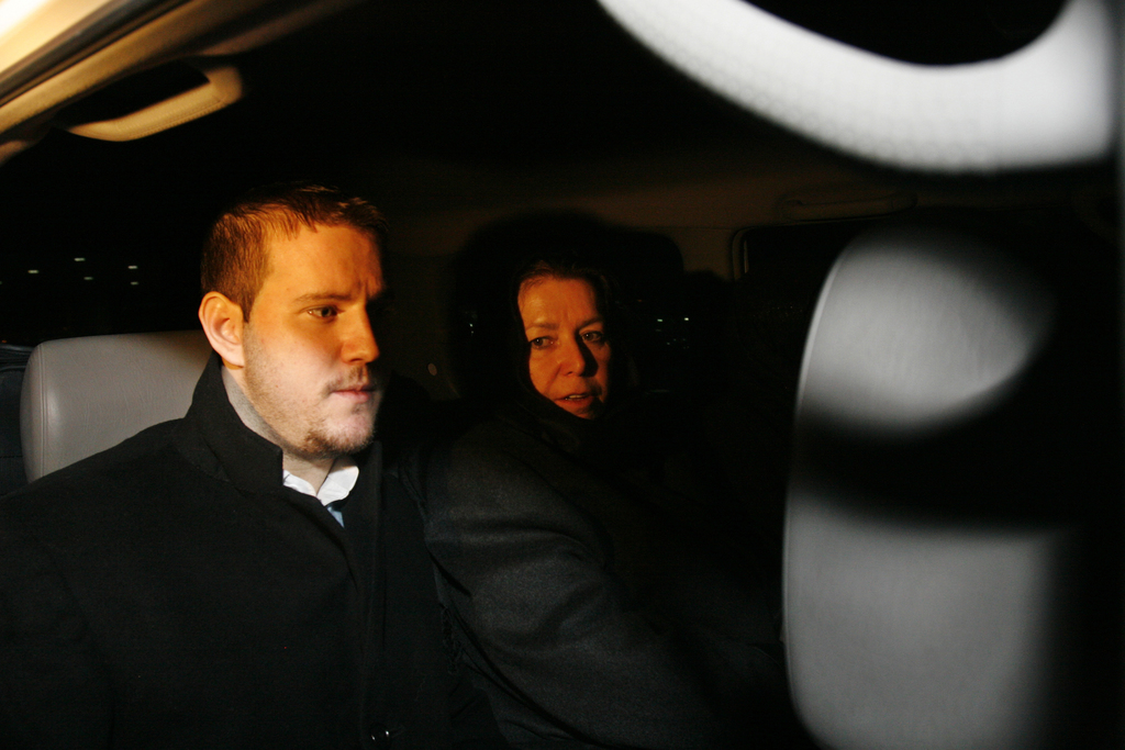 FILE--In this Dec. 18, 2007, file photo Christine Levinson, right, the wife of a missing American former FBI agent and her son, Daniel,...