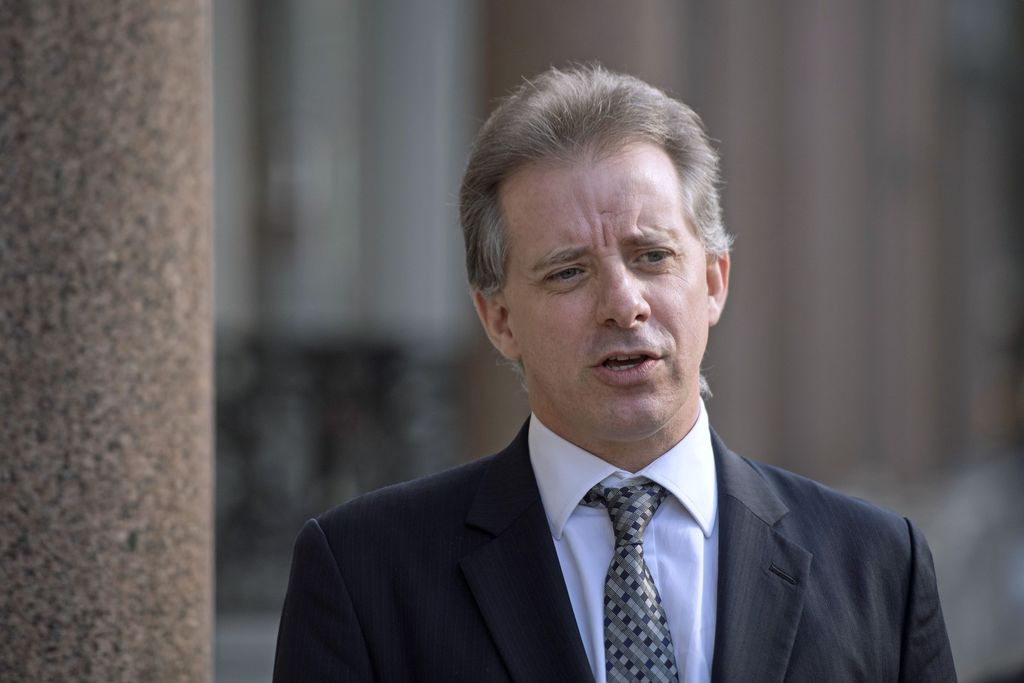 Christopher Steele, former British intelligence officer in London Tuesday March 7, 2017 where he has spoken to the media for the first ...