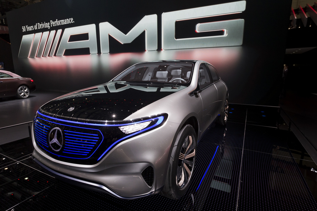 The New Mercedes-Benz concept EQ is presented during the press day at the 87th Geneva International Motor Show in Geneva, Switzerland, ...