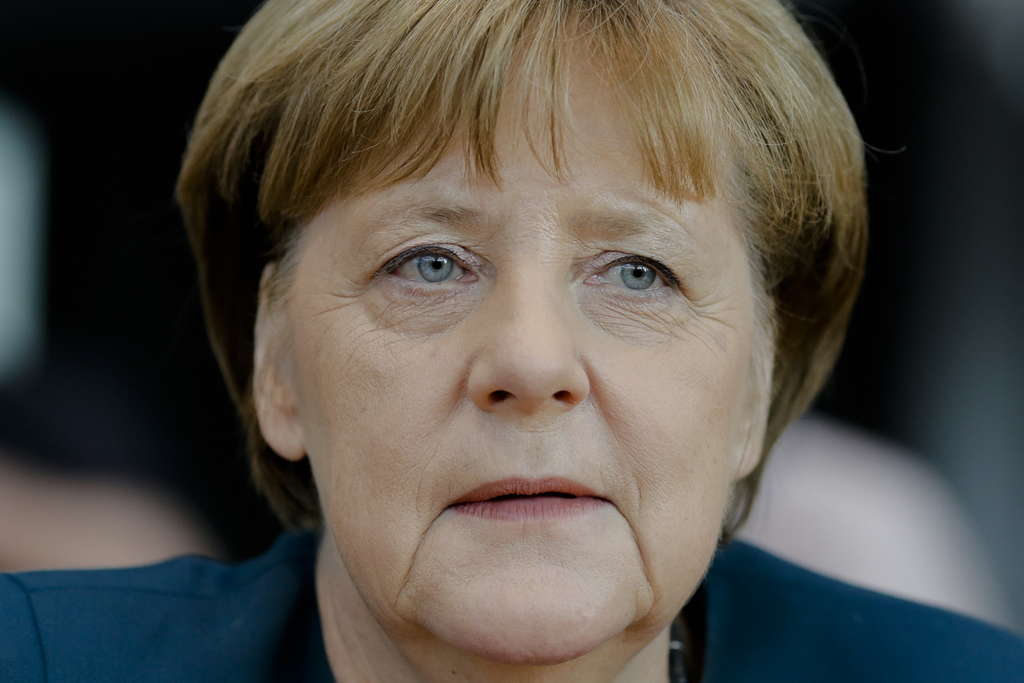 German Chancellor Angela Merkel, attends the questioning by a German Federal parliament committee investigating the Volkswagen emission...