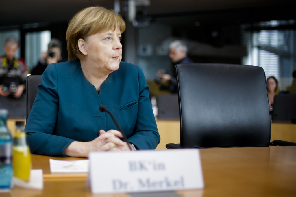 German Chancellor Angela Merkel, attends the questioning by a German parliament committee investigating the Volkswagen emissions cheati...