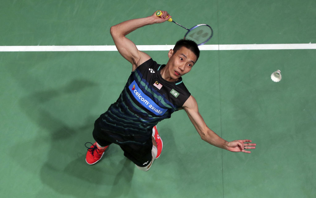 Malaysia's Chong Wei Lee plays a shot during his men's singles match during day three of the  All England Open Badminton Championships ...