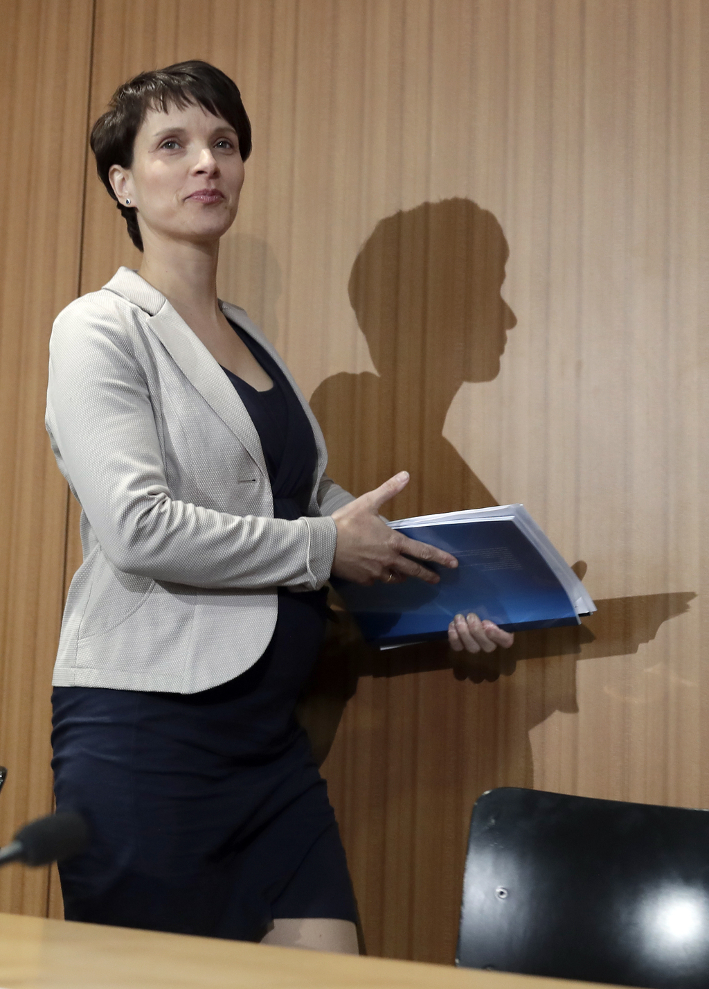 AfD chairwomen Frauke Petry arrives for a press conference of the populist 'Alternative for Germany' party , AfD in Berlin, Germany, Th...