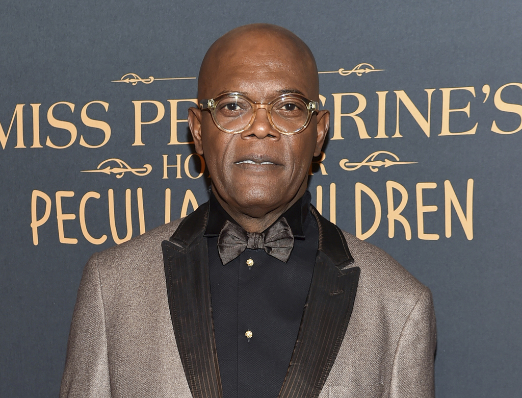 "FILE - In this Sept. 26, 2016 file photo, actor Samuel L. Jackson attends ""Miss Peregrine's Home for Peculiar Children"" red carpet even..."