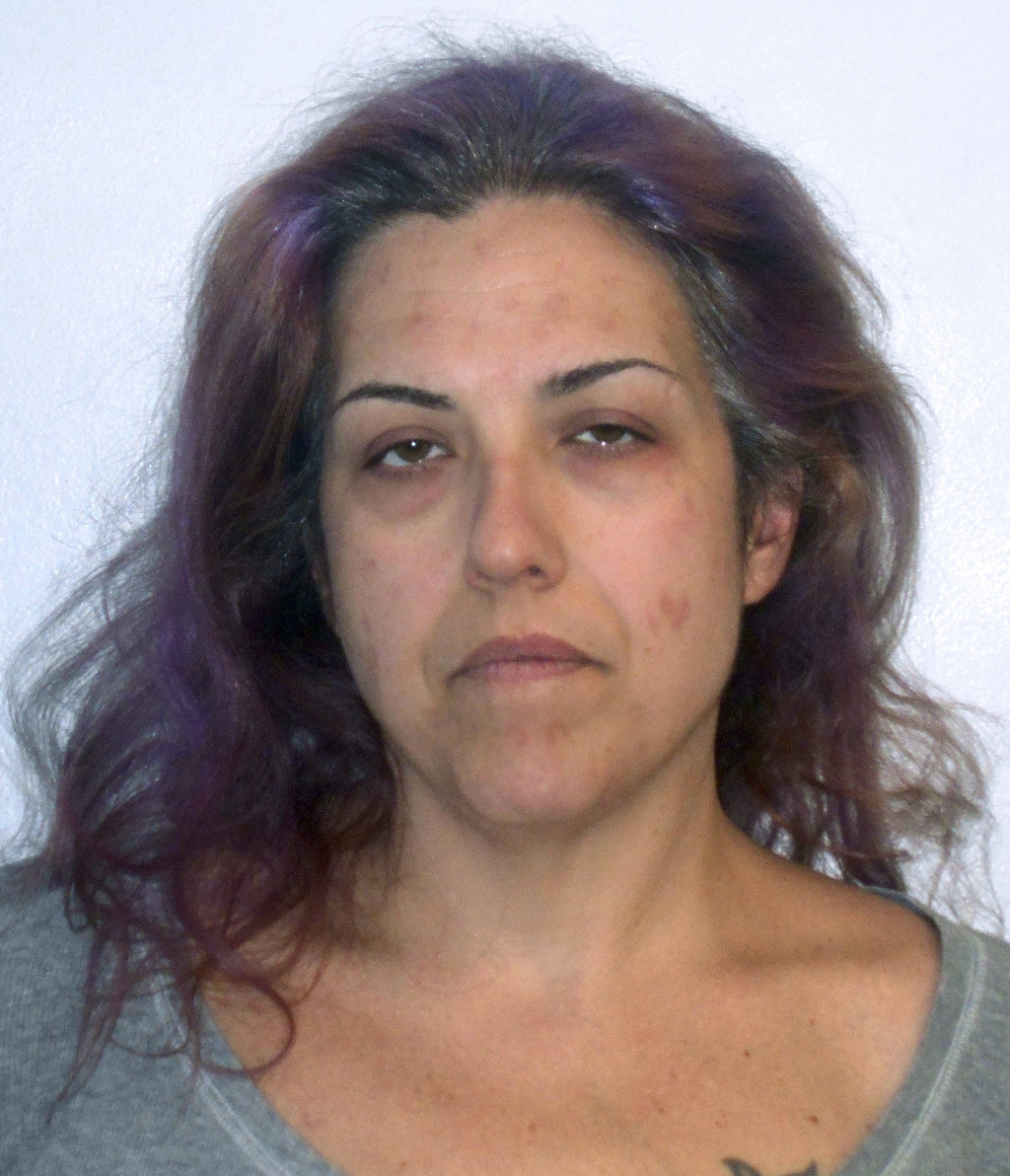 This booking photo released Wednesday, March 8, 2017, by the Concord, N.H., Police Department shows Rhianna Frenette arrested and accus...