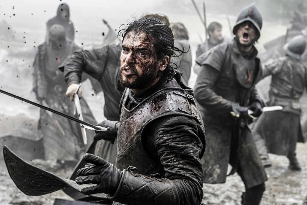 """In this image released by HBO, Kit Harington appears in a scene from """"Game of Thrones."""" HBO said Thursday that the series will return f..."""