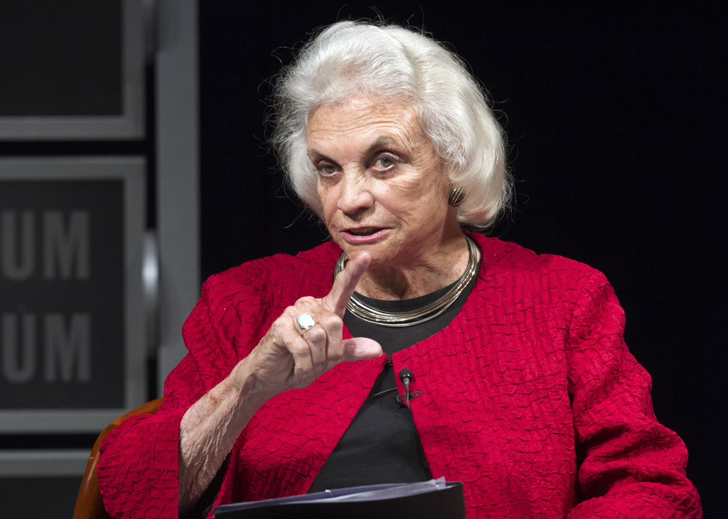FILE - In this April 11, 2012, file photo, former Supreme Court Justice Sandra Day O'Connor speaks during a forum to celebrate the 30th...