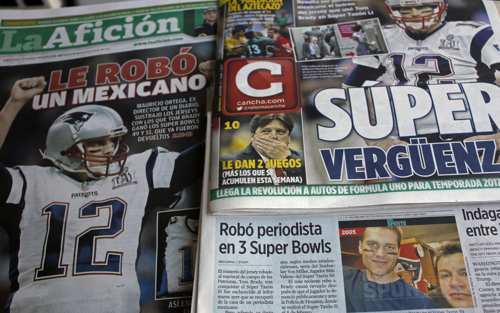 How much more Super Bowl gear did Ortega steal?