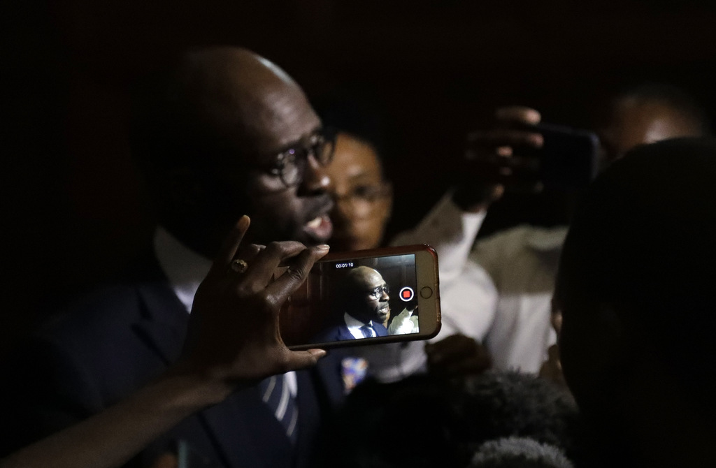 Newly appointed finance minister Malusi Gigaba, speaks to journalists at the presidential guest house in Pretoria, South Africa, Friday...
