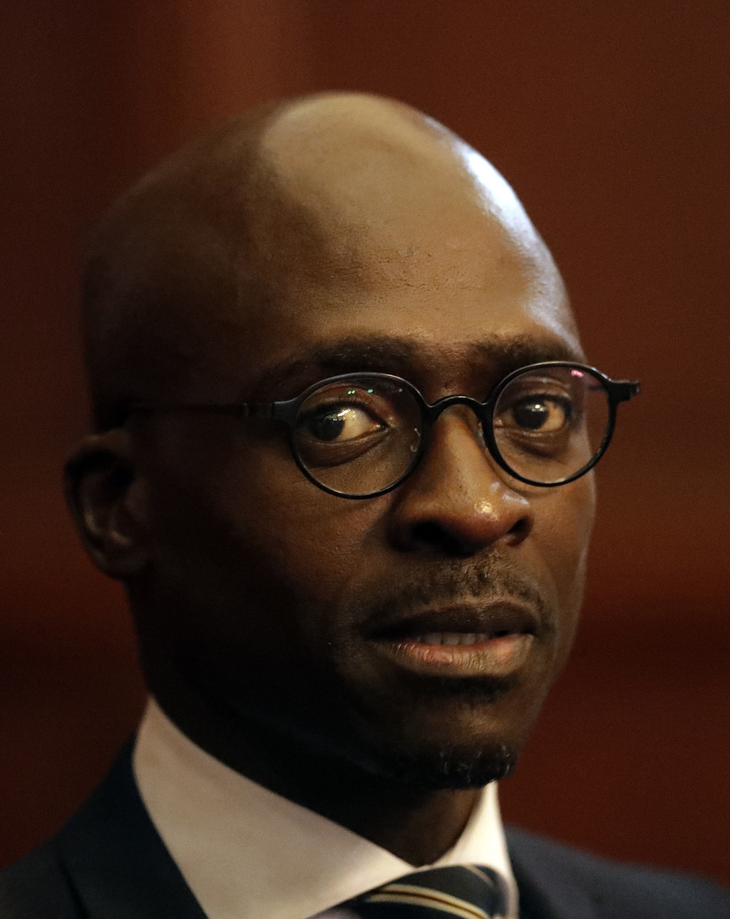 Malusi Gigaba, newly appointed finance minister, at the presidential guest house in Pretoria, South Africa, Friday, March 31, 2017.   T...