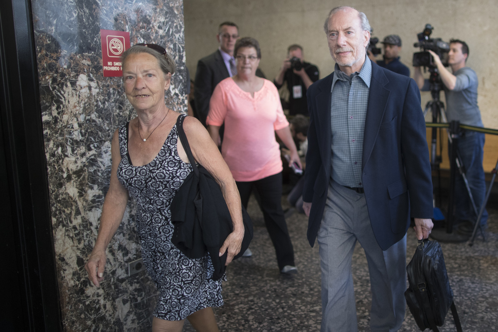 CORRECTS SPELLING OF LAST NAME TO PATZ INSTEAD OF PATS - Stan Patz, right, and Julie Patz, parents of Etan Patz who disappeared on the ...