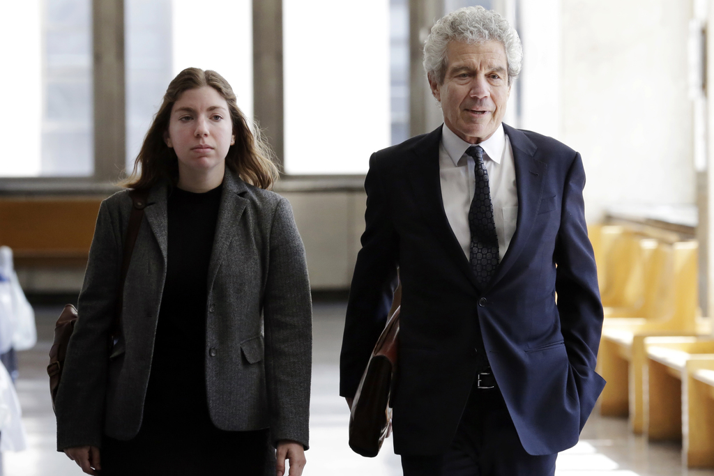 Defense attorney Harvey Fishbein arrives at Manhattan Supreme Court, in New York, Tuesday, April 18, 2017, for the sentencing of Pedro ...