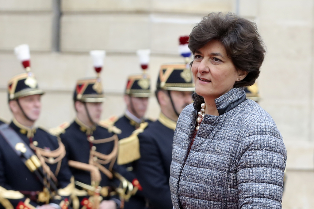 Sylvie Goulard arrives at the Elysee Palace Sunday, May 14, 2017 in Paris. Goulard has been nominated as new Defense Minister in French...