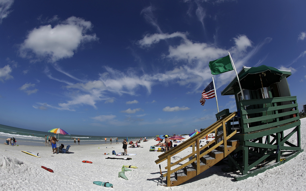 This May 18, 2017 photo shows Siesta Beach on Siesta Key in Sarasota, Fla. Siesta Beach is No. 1 on the list of best beaches for the su...