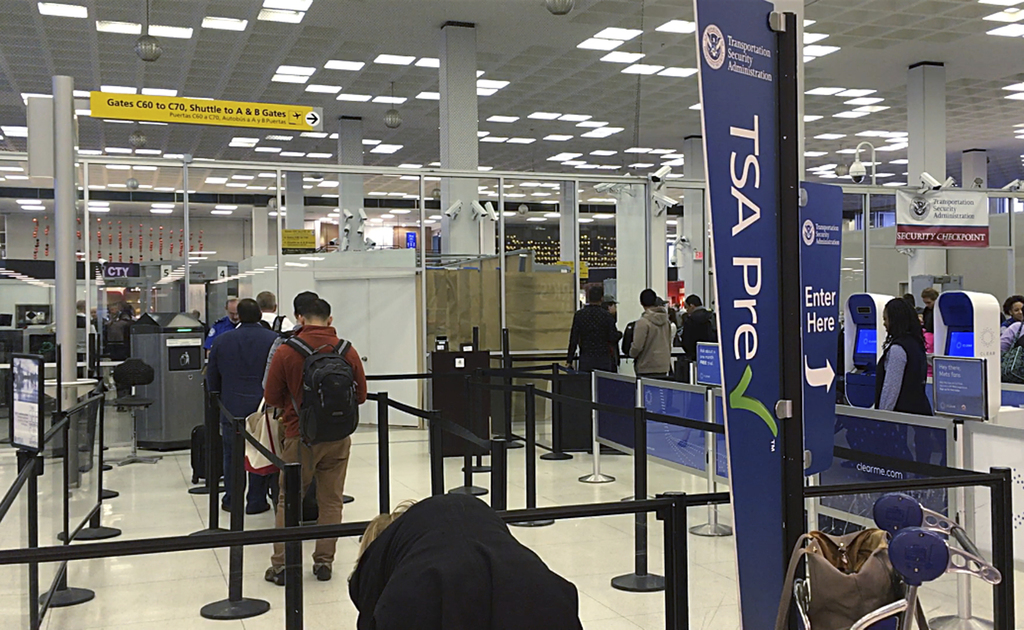 On the morning of Thursday, May 11, 2017, few passengers are waiting in line at the expedited Transportation and Security Administratio...