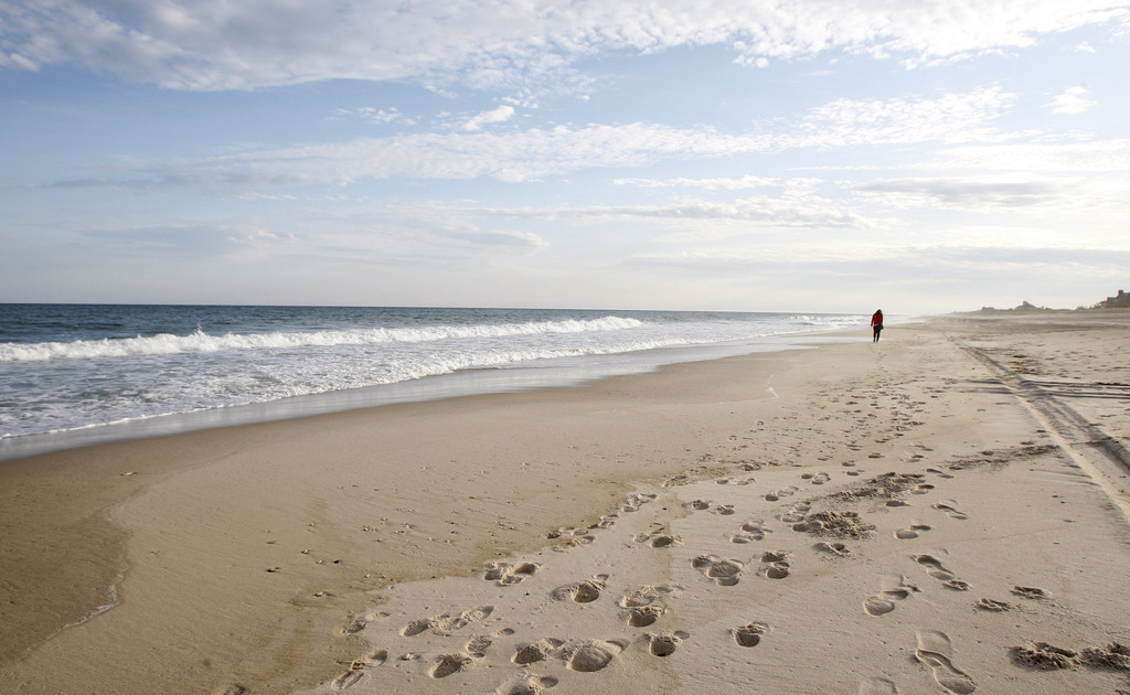 FILE - This May 13, 2010, file photo, shows Coopers Beach in Southampton, N.Y. Coopers Beach is No. 5 on the list of best beaches for t...