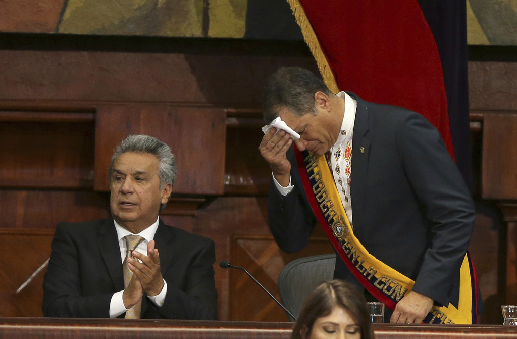 Ecuador's Moreno takes office vowing to heal divisions