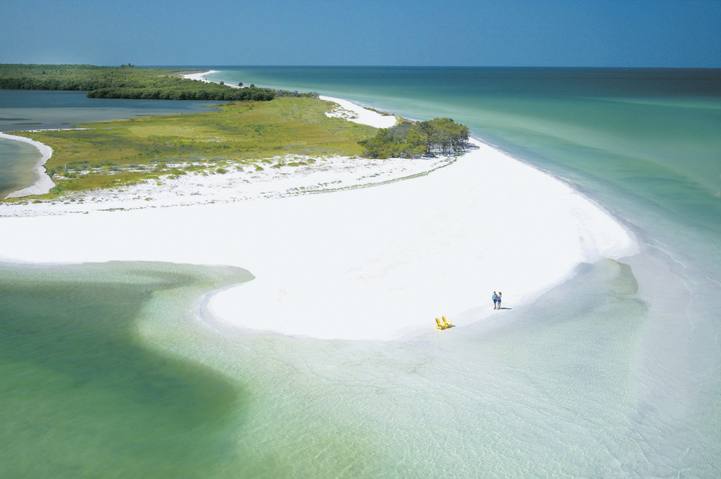 This undated photo provided by Visit Florida shows Caladesi Island State Park in Dunedin, Florida. The beach is No. 7 on the list of be...