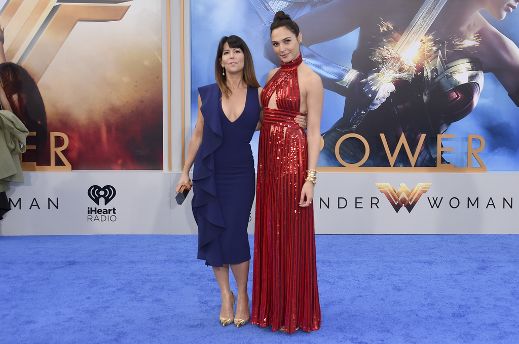 """FILE - In this May 25, 2017 file photo, director Patty Jenkins, left, and actress Gal Gadot arrive at the world premiere of """"Wonder Wom..."""