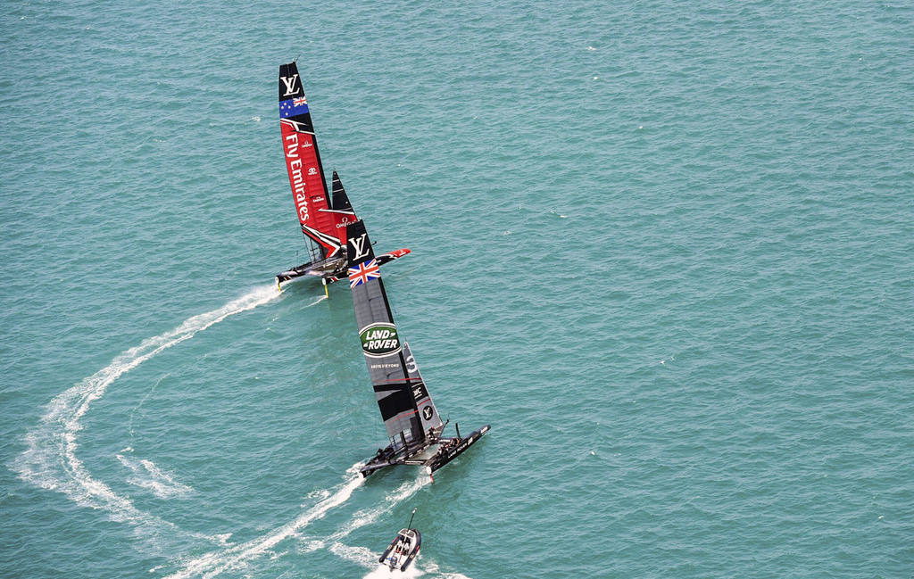America's Cup: Emirates Team New Zealand capsize in semifinal