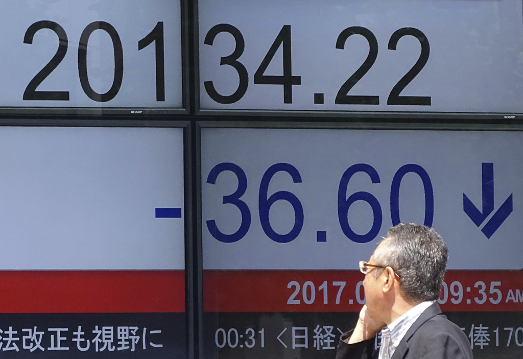 Asian stocks mostly lower on US drop, watch for UK elections
