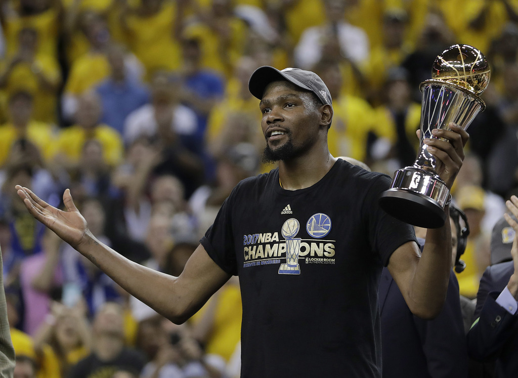 Kevin Durant finds long-sought title after joining Warriors