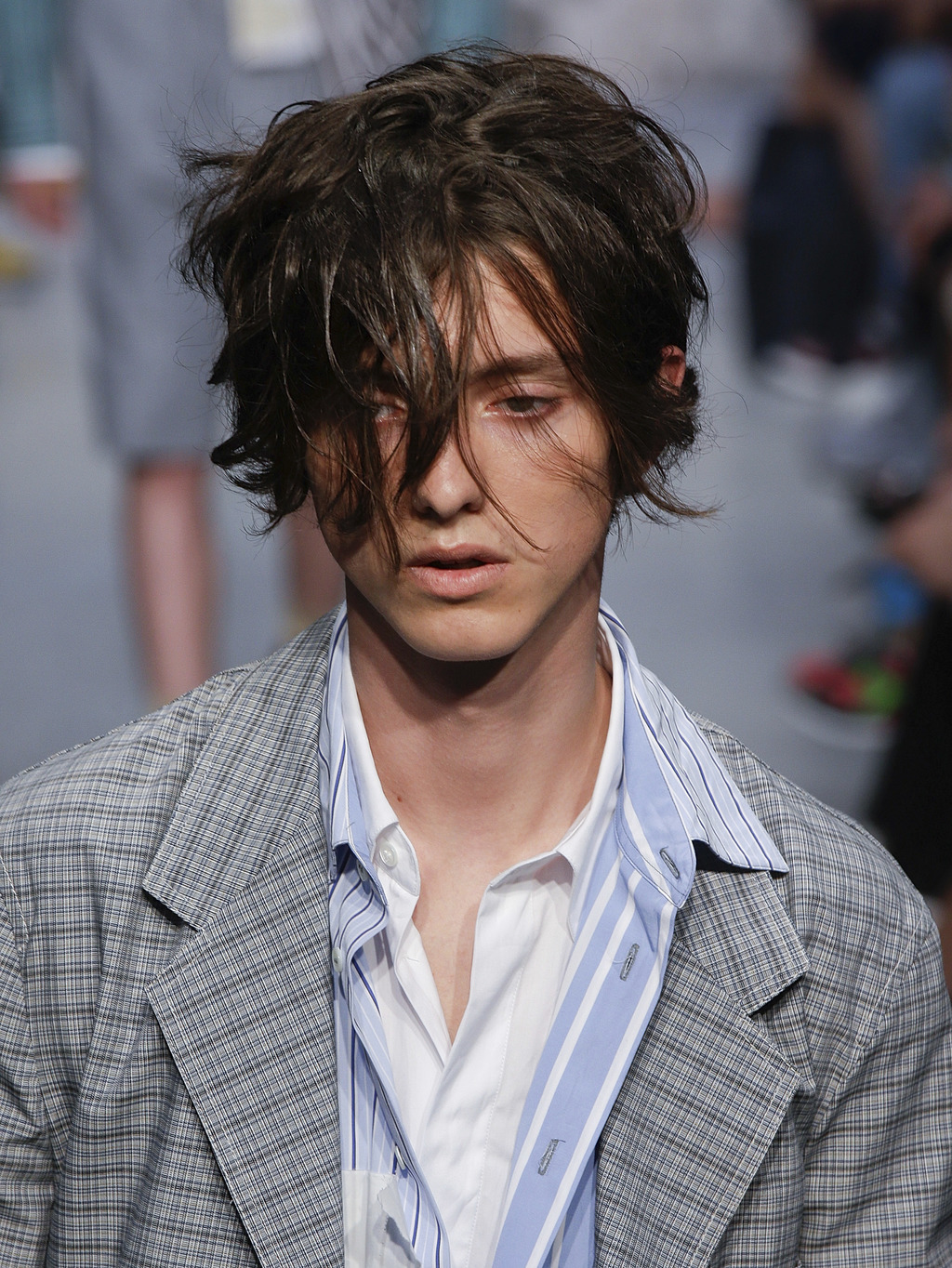 A model wears a creation part of the Marni men's Spring-Summer 2018 collection, that was presented in Milan, Italy, Saturday, June 17, ...