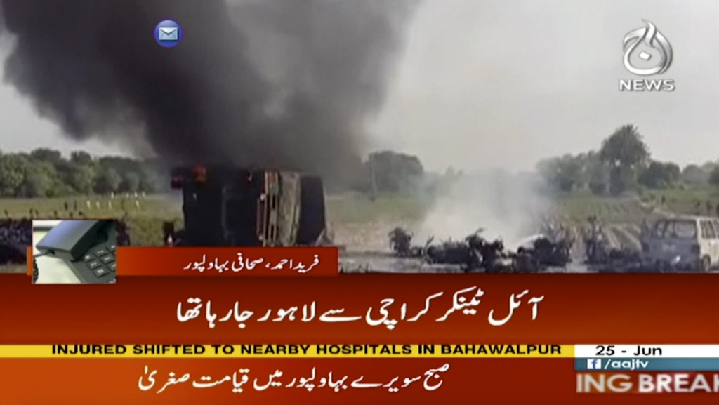153 killed in Pakistan tanker fire